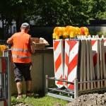 Marking Work Site Workers Barrier
